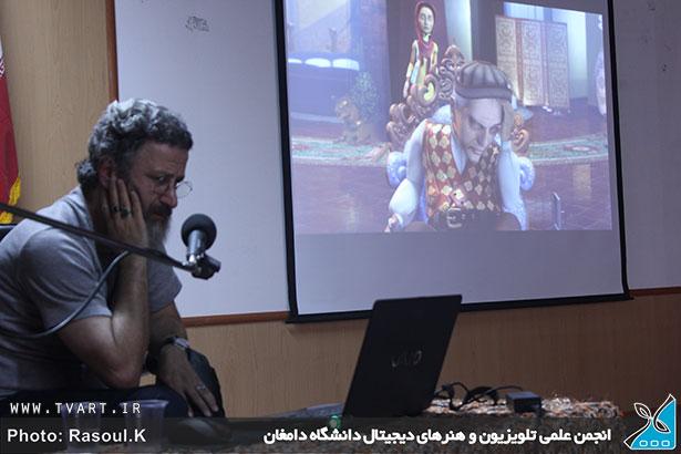 گزارش تصویری از حضور بهرام عظیمی در دانشگاه دامغان