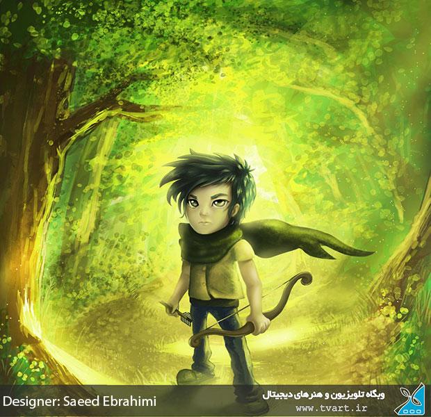 طراحی کاراکتر از سعید ابراهیمی