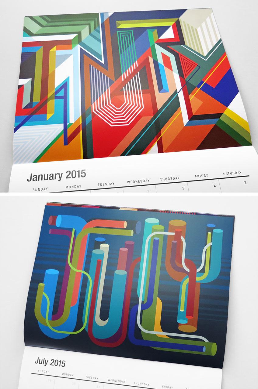 تقویم رنگارنگ برای سال ۲۰۱۵