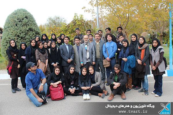 بازدید دانشجویان دانشگاه دامغان از صدا و سیمای مرکز سمنان