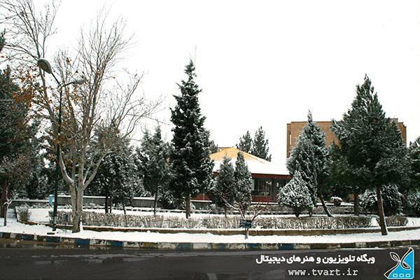 روزهای برفی دانشگاه دامغان در فصل زمستان - tvart.ir