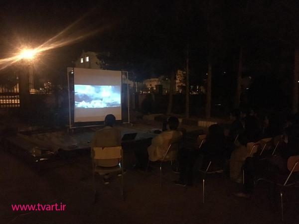 اکران شبانه ى انیمیشن در محوطه دانشکده هنر
